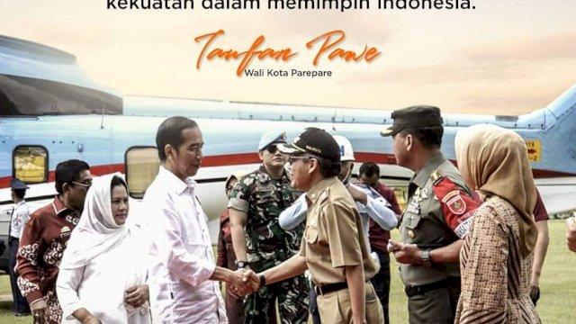 Walikota Parepare Beri Selamat HUT ke Presiden Jokowi