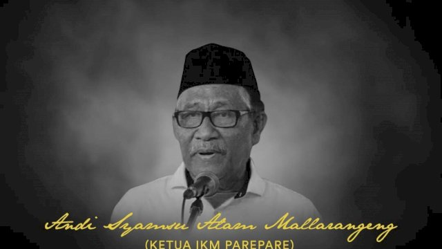 Ketua IKM Parepare Tutup Usia, Taufan Pawe Berduka