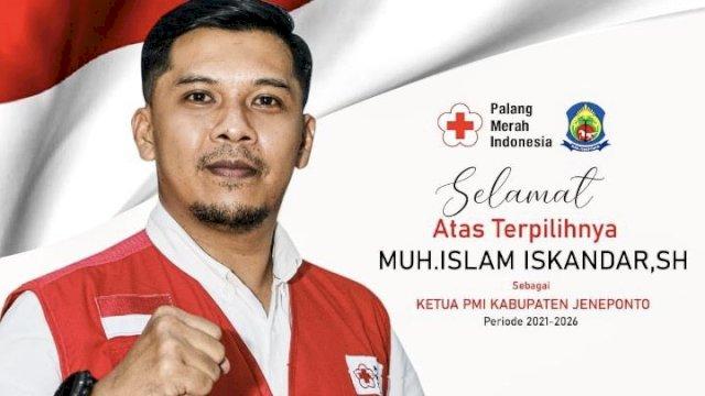Aklamasi Pimpin PMI Jeneponto, Islam Iskandar Mau Fokus Penanganan Covid-19