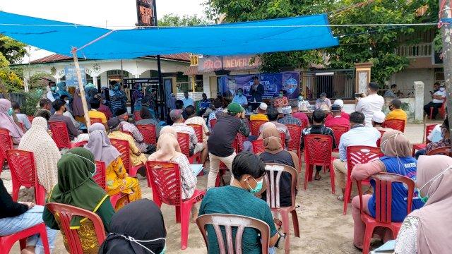 Reses Rudianto Lallo di Pulau Kodingareng, Kecamatan Sangkarrang, Makassar, Jumat (16/7/2021).