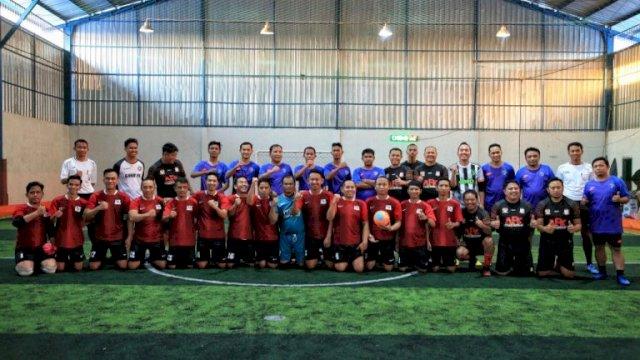 Laga Eksebisi Wali Kota Makassar-Tim Futsal Turatea Jeneponto Eratkan Silaturahmi