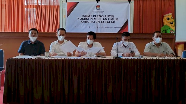 KPU Kabupaten Takalar Tetapkan Jumlah Pemilih Baru