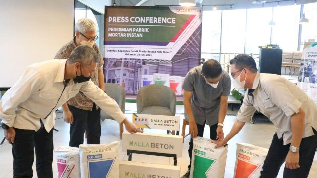 Kalla Beton Produksi Mortar Instan, Pilihan Pengganti Semen Biasa