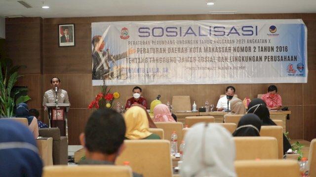 Ketua DPRD Makassar Sosialisasi Perda Nomor 2 Tahun 2016