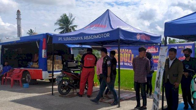 Yamaha Beri Service Kunjung Korban Banjir Kabupaten Wajo
