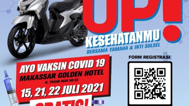 Yamaha Siapkan 3000 Vaksin Gratis Bagi Warga Makassar, Gowa dan Maros