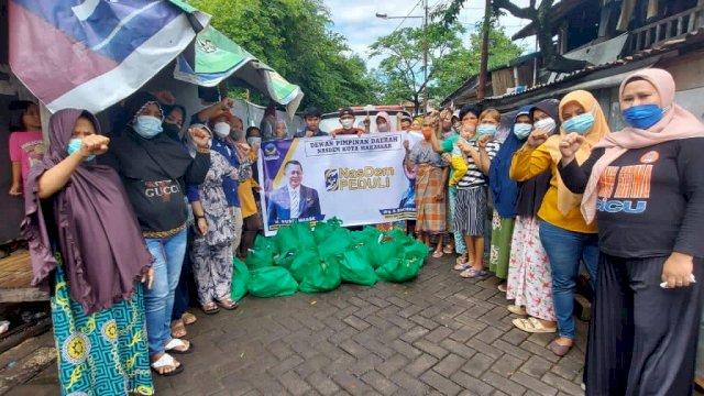 Cicu Pimpin NasDem Berbagi ke Warga Tak Mampu di Tiga Kecamatan
