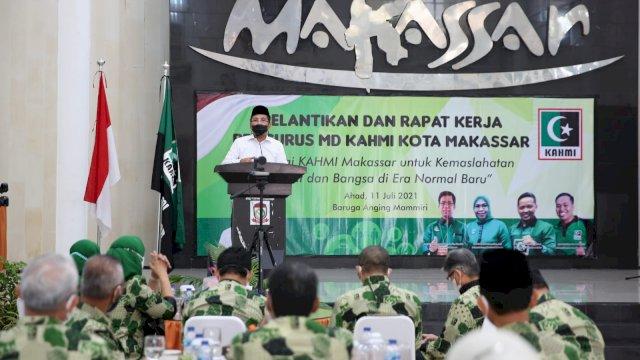 Hadiri Rapat Kerja KAHMI Kota Makassar, Danny Paparkan Isolasi Apung Bagi Pasien Covid 19