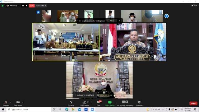 Plt Gubernur Sulsel Buka Pengenalan Lingkup Sekolah SMA/SMK/SLB Se-Sulsel Secara Virtual