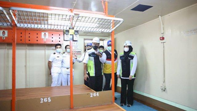 Danny Fatma Tinjau Fasilitas Kapal Pelni Untuk Isolasi Apung
