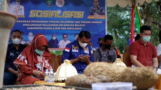 Bupati Pangkep Dampingi Syaharuddin Alrif Sosialisasi Tanaman Porang di Pangkep