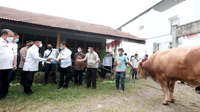 Mentan Syahrul Kurban Sapi di Kampung Halaman, Diterima Wabup Gowa