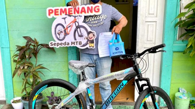 Gadis Asal Makassar Menang Sepeda MTB di Program Ichitan Whatsapp-an