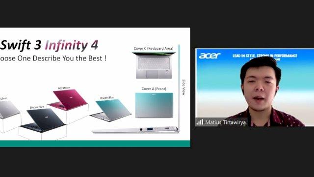 Acer Indonesia Gandeng Ilustrator Diela Mabaranie Luncurkan Warna Baru Swift 3 Infinity 4 Ocean Blue