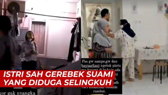 VIDEO: Detik-detik Istri Sah Gerebek Suami yang Diduga Selingkuh dengan Pramugari
