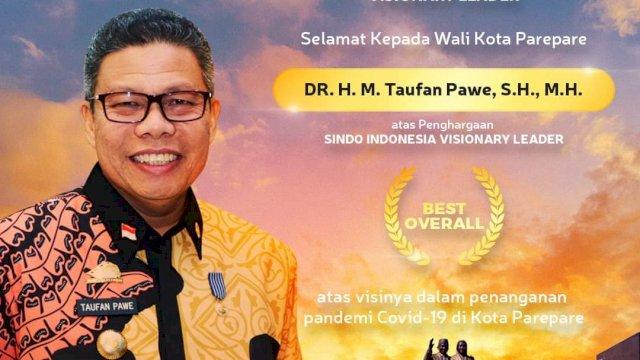 Taufan Pawe Raih Penghargaan 'The Best Overall'