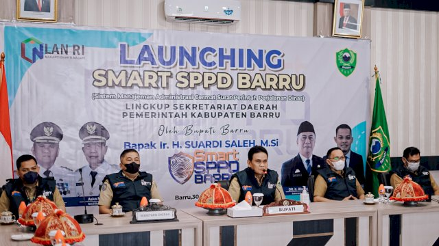 Resmi Dilaunching, Gagasan SMART SPPD Kabag Umum Setda Barru Bentuk Transparansi Perjalanan Dinas