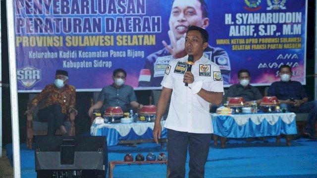 Wakil Ketua DPRD Sulsel Sosialisasi Perda Kepemudaan di Sidrap
