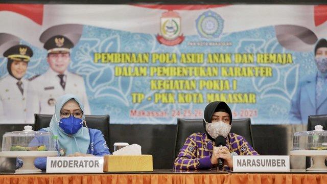 Tingkatkan Peran Keluarga, TP PKK Kota Makassar Gelar Sosialisasi Pembinaan Pola Asuh Anak dan Remaja