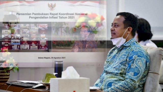 Ikut Rakornas Pengendalian Inflasi, Plt Gubernur Sulsel Akan Maksimalkan Ekspor Komoditas Pertanian
