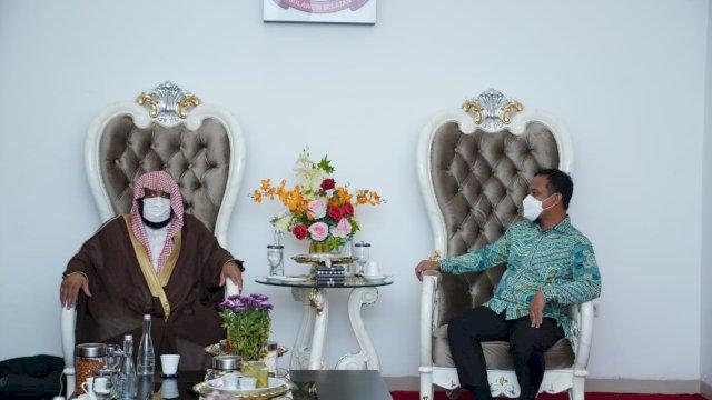 Penasehat Duta Besar Arab Saudi untuk Indonesia Silaturahmi Dengan Plt Gubernur Sulsel