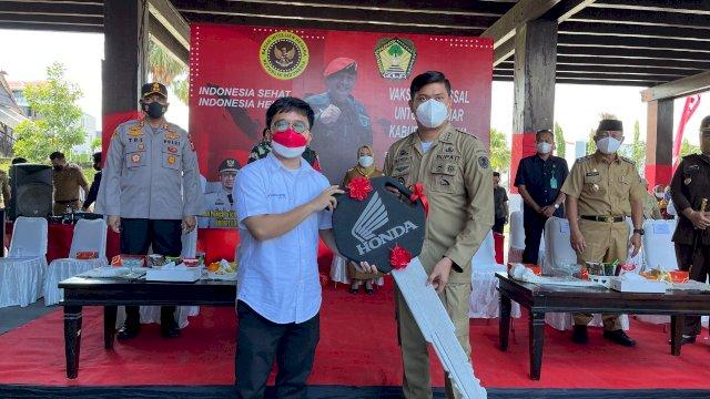 Astra Motor Sulsel Siapkan Grandprize Satu Unit Motor pada Vaksin Massal Pelajar di Gowa