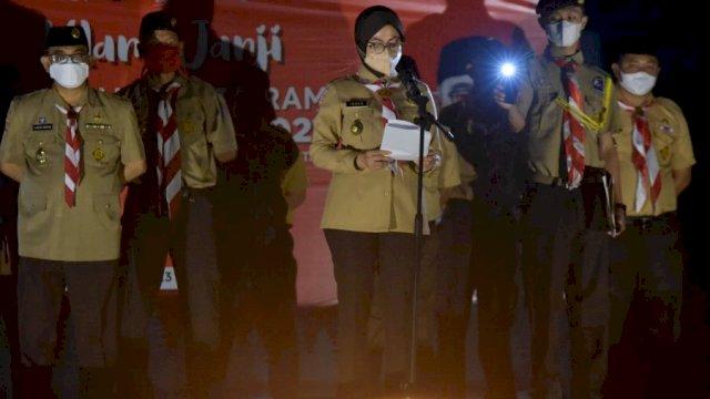 Bupati Indah Harap Anggota Pramuka Bantu Edukasi Prokes di Masyarakat