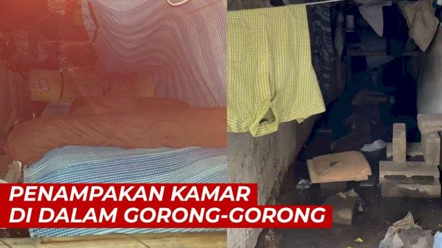 VIDEO: Penampakan 'Kamar' Di dalam Gorong-gorong, Ada Kasur dan Bantal Guling