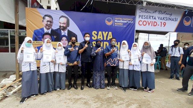NasDem Barru Gencarkan Vaksinasi, Libatkan Anak Sekolah