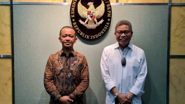 Taufan Pawe dan Menteri Investasi Diskusi Terkait Tantangan Ekonomi di Masa Pandemi Covid-19