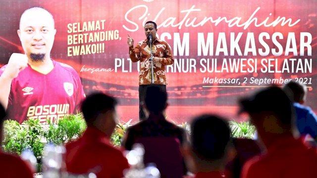 Jelang Laga Perdana di Liga Indonesia, PSM Makassar Minta Restu Plt Gubernur Sulsel
