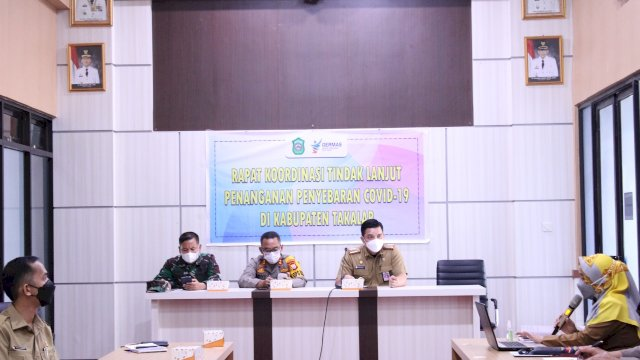 Plh Sekda Takalar Pimpin Rapat Koordinasi Tindak Lanjut Penanganan Penyebaran covid-19 di Takalar