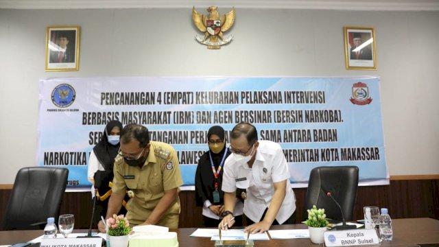 Wujudkan Kelurahan Bersinar, Pemkot Makassar-BNN Sulsel Komitmen Berantas Narkoba