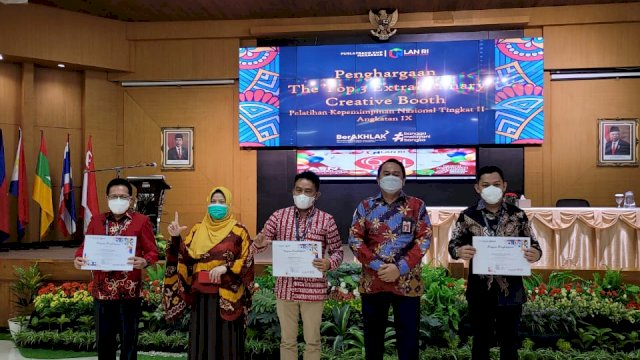Kabag Umum Setda Barru Sabet 3 Penghargaan Pada Latpim LAN Makassar
