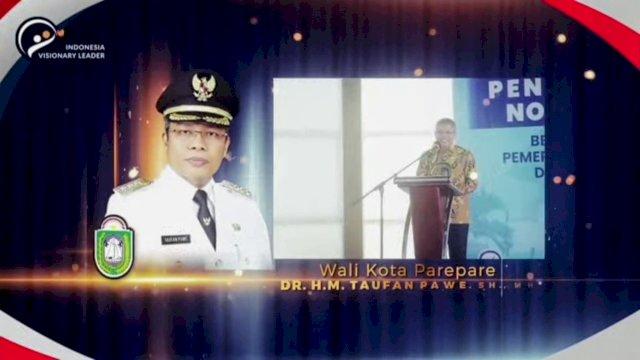 Wali Kota Parepare Raih Penghargaan Best Overall Ajang Indonesia Visionary Leader 2021