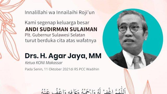 Andi Sudirman Ucapkan Belasungkawa Meninggalnya Ketua KONI Makassar
