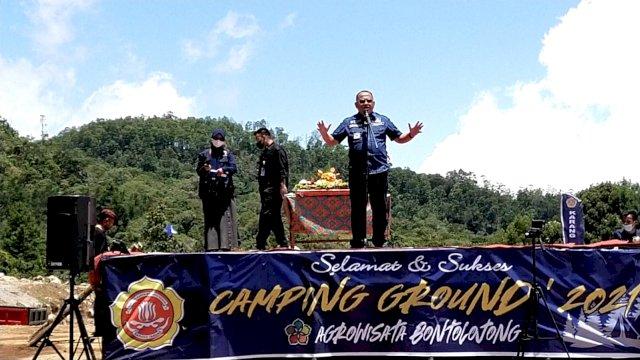 Karang Taruna Jeneponto Gelar Camping Ground di Agro Wisata Bontolong, Ini kata Sekda