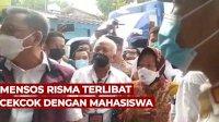 VIDEO: Mensos Risma Terlibat Cekcok dengan Mahasiswa soal Bansos